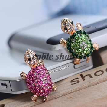 Fashion Style 3.5mm Cute Turtle Shape Design Mobile Phone Ear Cap Dust Plug For Iphone For Samsung Dust Plug