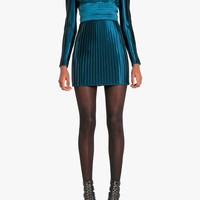 Balmain - High neck pleated mini dress - Women's dresses