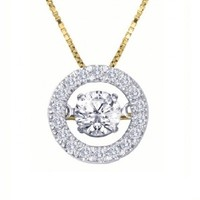 1/2ct tw Diamond Halo Drop of Life Necklace in 14K White and Yellow Gold - Drop of Life - Collections - Jewelry & Gifts