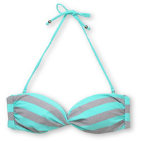 Empyre Girls Swivel Turquoise Striped Bandeau Bikini Top at Zumiez : PDP