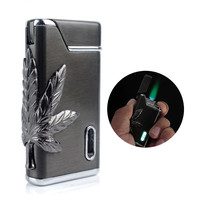 Leaf Green Light Windproof Lighter