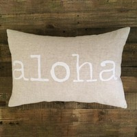 Maka Sea - Aloha Pillow / White