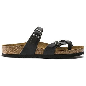 Birkenstock Mayari Oiled Leather Black 171481 Sandals - Ready Stock