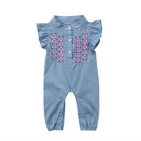Infant Newborn Baby Girls Clothing Rompers Flower Sunsuit Playsuit Short Sleeve Jumpsuit Romper Outfit Clothes Baby Girl 0-24M