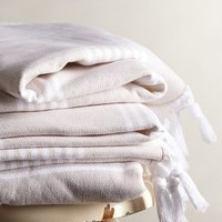 Thermae Fringe Towel Collection by Anthropologie Cream