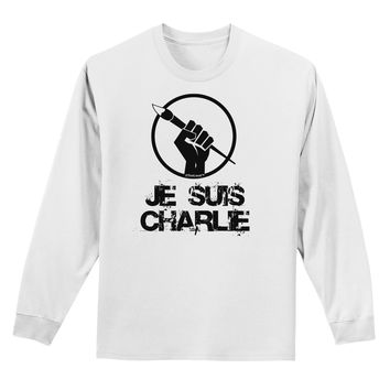Je Suis Charlie Adult Long Sleeve Shirt
