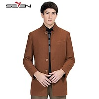 Fashion Jacket Men Wool Coat Peacoats Men Long Wool Blend Winter Male Overcoat Trench Design Clothing