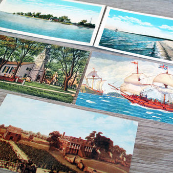 5 Vintage Postcards Unused Virginia Themed Postcards by LetterKay