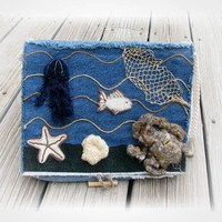 Upcycled denim Ocean purse by tanjasova on Etsy