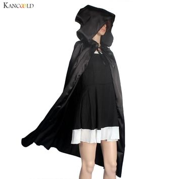 Cool Women Unisex Mantle Hooded Cloak Coat Wicca Robe Medieval Cape Shawl Halloween Party Witch Wizard Cosplay Costumes Aug19