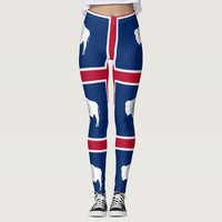 Leggings with flag of Wyoming State, USA