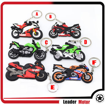 Hot Sale For YAMAHA HONDA SUZUKI KAWASAKI Model Motorcycle Accessories Cool Rubber Keychain Key Ring Keyring Yey Chain