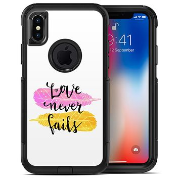 Yellow and Pink Love Never Fails - iPhone X OtterBox Case & Skin Kits