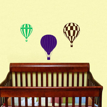 Housewares Hot air Balloons Wall Vinyl Decal Sticker Kids Nursery Baby Room Decor V290