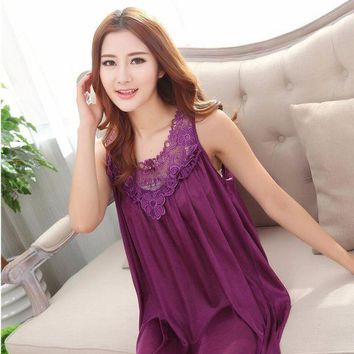 CREYCI7 2017 summer nightgown silk lace pijama women nightwear girls sleepwear lingerie casual robe night dress home clothing