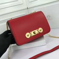 size 22*16*8 cm Versace women shoulder bags handbag Autumn and Winter new arrived redLeather Neverfull Tote Handbag Shoulder Bag Shopping Bags Purse Wallet