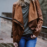 Nightlife Camel Suede Jacket