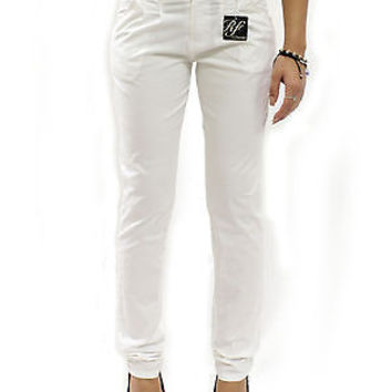 "New Comfy White Cotton Skinny Chino Pants Trousers Size 3 / Waist 28""-29"" RF0217"