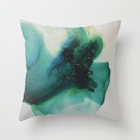 Anahata (Heart Chakra Throw Pillow by duckyb