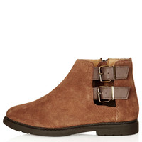 MAJESTIC Cut Out Suede Boots - Boots - Shoes - Topshop USA