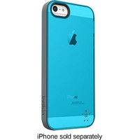 Belkin - Grip Candy Sheer Case for Apple® iPhone® 5 and 5s - Teal/Silver