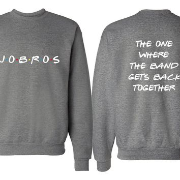 "Jonas Brothers ""JoBros // The One Where The Band Gets Back Together - Front & Back"" Crew Neck Sweatshirt"