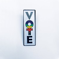Feminist Vote Enamel Pin