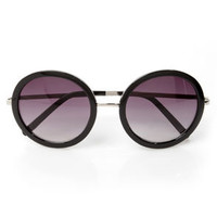 Inner Circle Silver and Black Sunglasses