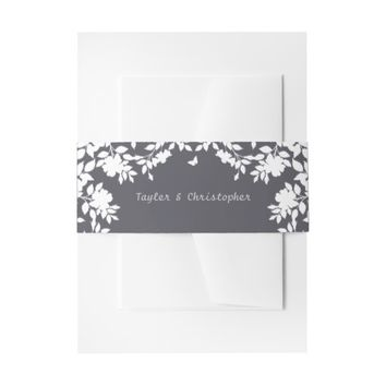 Romantic Flower Border | Invitation Belly Band
