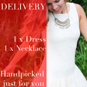 Surprise Dandy Delivery - Dress & Necklace Combo