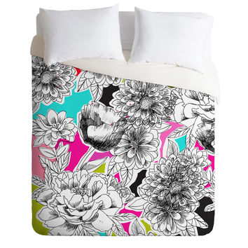 Mary Beth Freet Couture Home Floral 2 Duvet Cover