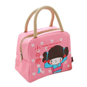 Leisure Portable Lunch Bag Cute Cartoon Insulated Cooler Bags Thermal Food Picnic Lunch Bags Kids Lunch Box Bag Tote