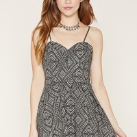 Tribal Print Smocked Dress