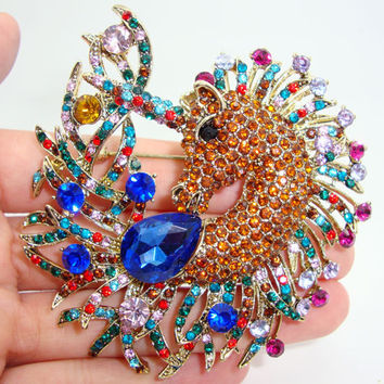 Unicorn Horse Colorful Brooch Pin