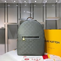 LV Louis Vuitton WOMEN'S MONOGRAM TITANIUM CANVAS BACKPACK BAG