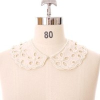 Flower Cut Out Pearl Collar - New Arrivals - Retro, Indie and Unique Fashion