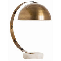 Arteriors Home Bond Vintage Brass/Snow Marble Desk Lamp - Arteriors Home 42326