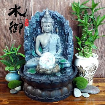 Buddha Water Fountain Humidifier Home Decoration