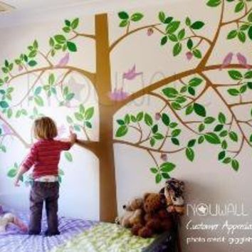 Vinyl Wall Sticker Decal Art  Giant Tree with Animals by NouWall