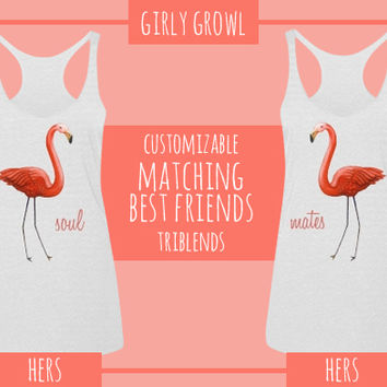 flamingo friends matching: Girly Growl