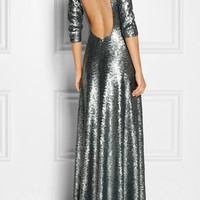 Marc Jacobs|Open-back sequined gown|NET-A-PORTER.COM