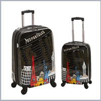 F212-DEPARTURE 2 Pc Polycarbonate/Abs Upright Luggage Set