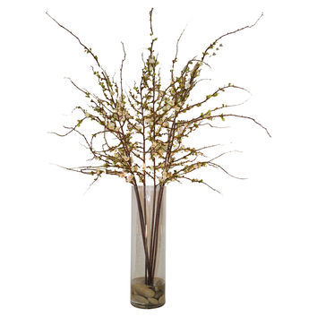 "51"" Cherry Blossoms in Cylinder, Faux, Arrangements"