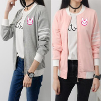 Overwatch Dva Casual Long Bomber Jacket