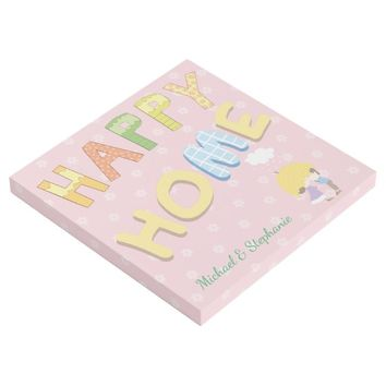 Happy Home Couple with Names Gallery Wrap