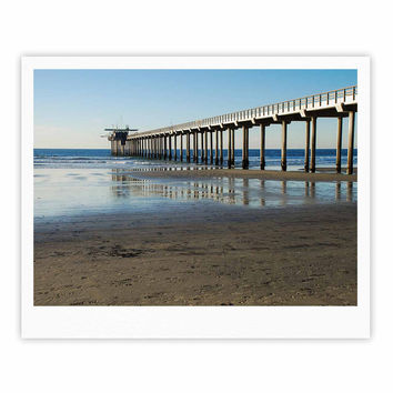 "Nick Nareshni ""Scripps Beach Pier"" Coastal Photography Fine Art Gallery Print"
