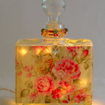 Rose Fantasy Perfume Bottle Nightlight ( Night Light )