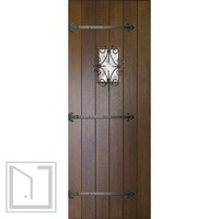 Slab Home Single Door 96 80 Mahogany Rustic Plank Solid