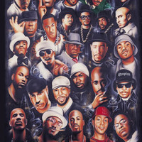 Rap Legends Celebrity Poster by John Martin