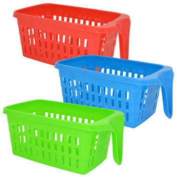 Bulk Rectangular Slotted Baskets with Single-End Handles at DollarTree.com